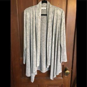 Calvin Klein Waterfall Cardigan Sweater - size L